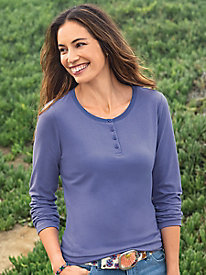 Cotton Collection Long Sleeve Henley