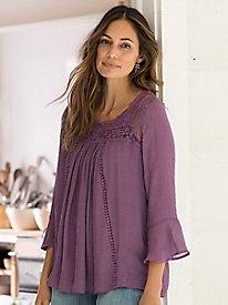 Crochet Lace Flowy Blouse