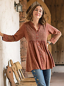 Long Sleeve Crochet Tunic