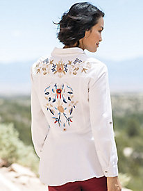 Embroidered Back Shirt