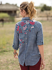 Chambray Embroidered Shirt