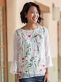 Floral Emboridered Blouse