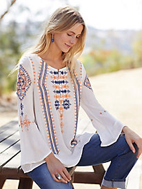 Lakspur Embroidered Tunic