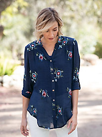 Chimayo Embroidered Blouse