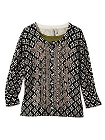 Women's All the Trimmings Print Cardigan