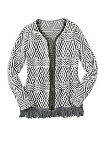 A Holiday Cardigan with Fringe Benefits
