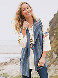 Sleeveless Open Cardigan