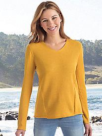 Honeycomb Stitch Lightweight Pullover Sweater