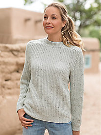 Slouchy Shaker Pullover Sweater