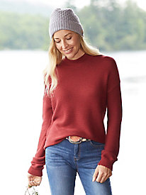Slouchy Ribbed Mock Neck Sweater