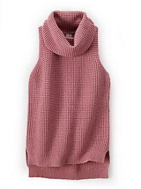 Waffle Cowl Neck Vest