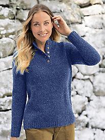 Bouclé Henley Sweater