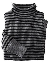Scrunch Neck Stripe Sweater