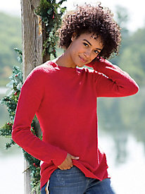 Relaxed Bouclé Pullover Sweater