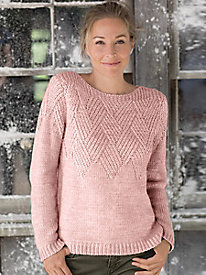 Basket Weave Yoke Pullover Sweater