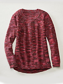Marled Cable Pullover Sweater