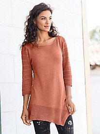 Asymmetrical Slant Hem Sweater