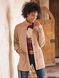 Reversible Boiled Wool Water Resistant Coat