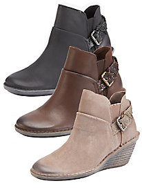 OTBT Rocker Wedge Closed Toe Booties