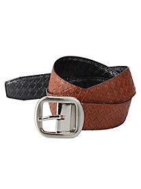 Classic Basket Weave Reversible Belt
