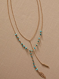 Turquoise Leaf Necklace