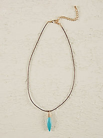 Turq Drop Necklace