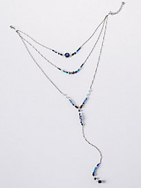 Lapis Multi Strand Necklace
