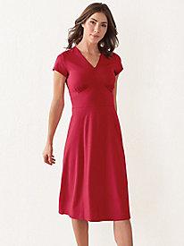 Bella Coola Solid Knit Cap Sleeve Dress