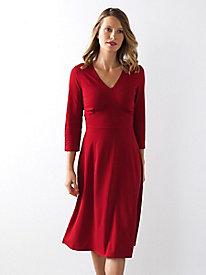 Bella Coola 3/4 Sleeve Solid Knit Dress