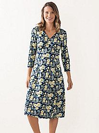 Bella Coola 3/4 Sleeve Print Knit Dress