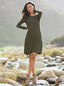 Long Sleeve Seamed Knit Dress