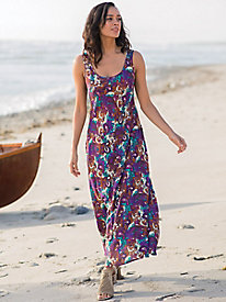 Drop Waist Woven Maxi Dress