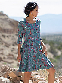 Bella Coola Above The Knee Print Long Sleeve Dress