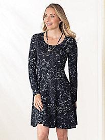 Bella Coola Above The Knee Print Long Sleeve Dress