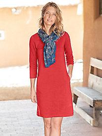 Solid Little Best 3/4 Sleeve Dress