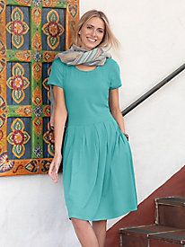 Bella Coola Solid Pleated Dress