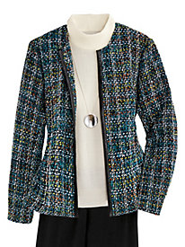 Open-Front Tweed Jacket