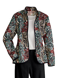 Zip-Front Tapestry Jacket