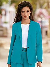 Single-Button Textured Jacket
