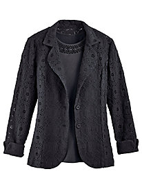 Lined Lace Blazer