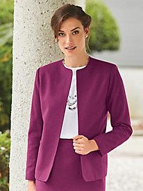 Open-Front Wool-Blend Jacket by Bedford Fair
