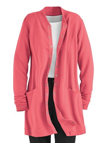 Any Day Snap-Front Fleece Jacket - Image 4 of 5