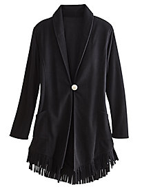 Fleece Fringe Jacket