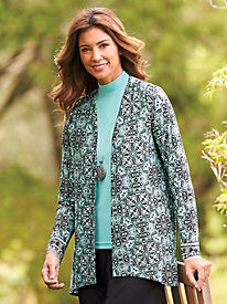Open-Front Travel Cardigan