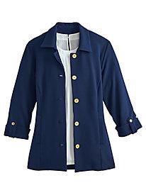 Textured Roll-Tab Jacket