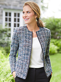 Open Front Tweed Jacket