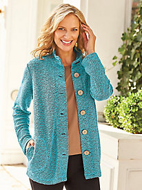 Textured Big Shirt Jacket