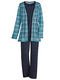 Knit Jacket Pants Set