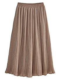 Woven Pleated Skirt