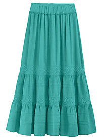Pintucked Lace Skirt